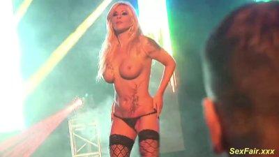 german Milf lapdance on stage