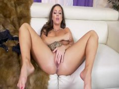Abigail Mac Strips And Fucks Her Tight Pussy