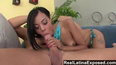 RealLatinaExposed - Sunbathing by the pool makes a Latina super horny