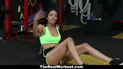 TeamSkeet - Ebony Beauty Sucks & Fucks After Workout