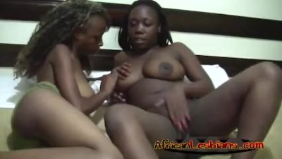 Nice lesbian adventure of two ebonys