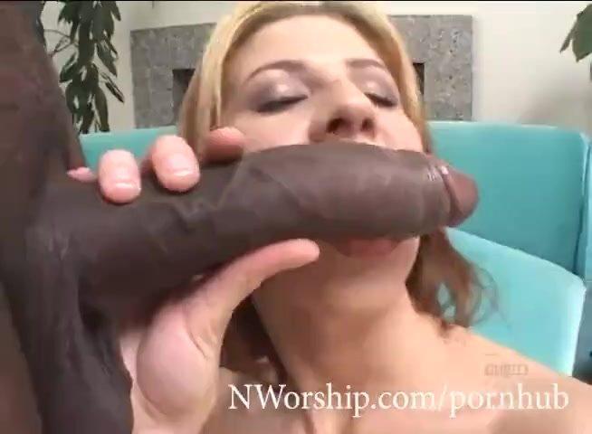 redhead slut sucking big black cock interracial porn