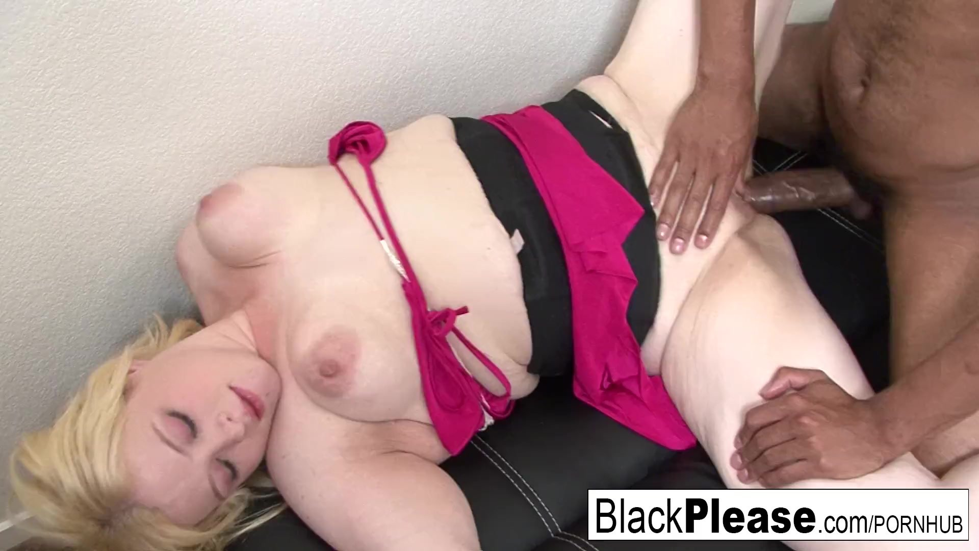 Blonde BBW Sparkle can't get enough BBC
