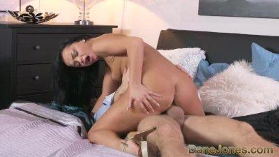 Dane Jones Horny ebony haired Russian has creampie fuck with her lover