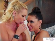Watch Briana Banks and Jessica Jaymes fuck and suck each other wet pussy