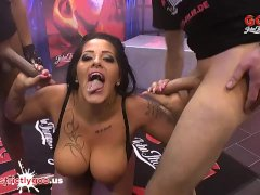 Sexy Chubby Ashley Cumstar With Massive Tits In Rough Gangbang