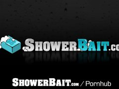 ShowerBait Shower fuck with Str8 Paul Canon and Darin Silvers