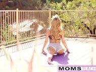MomsTeachSex - Hot Yoga Step Mom Fucks Step Son And teen GF