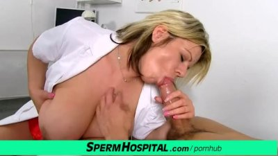 Euro MILF doctor Silvy Vee huge tits gets fucked by a patient