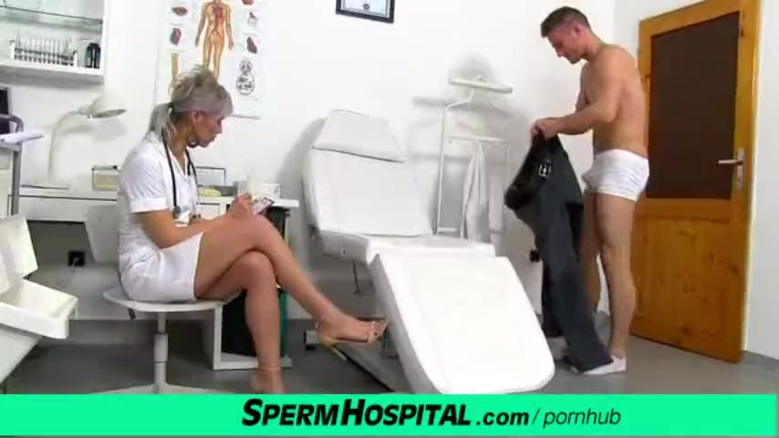 Preview 1 of Cfnm Penis Medical Checkup With Gorgeous Czech Milf Doctor Beate