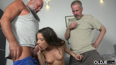 Women being sexy body licked