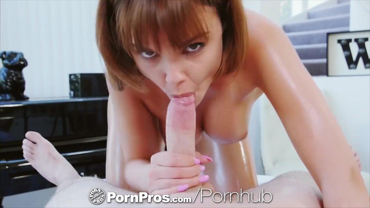PornPros Brunette Dillion Harper massage fuck and facial