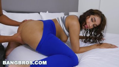 BANGBROS - Ripping Kitty Catherine's Yoga Pants to Free That Big Booty