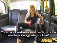 Fake Taxi Training the new female taxi driver in backseat threesome