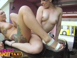 female fake taxi slick wet pussies licked & fucked with sex toys in taxiPorn Videos