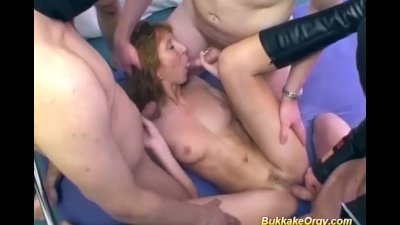 german Milfs first bukkake orgy