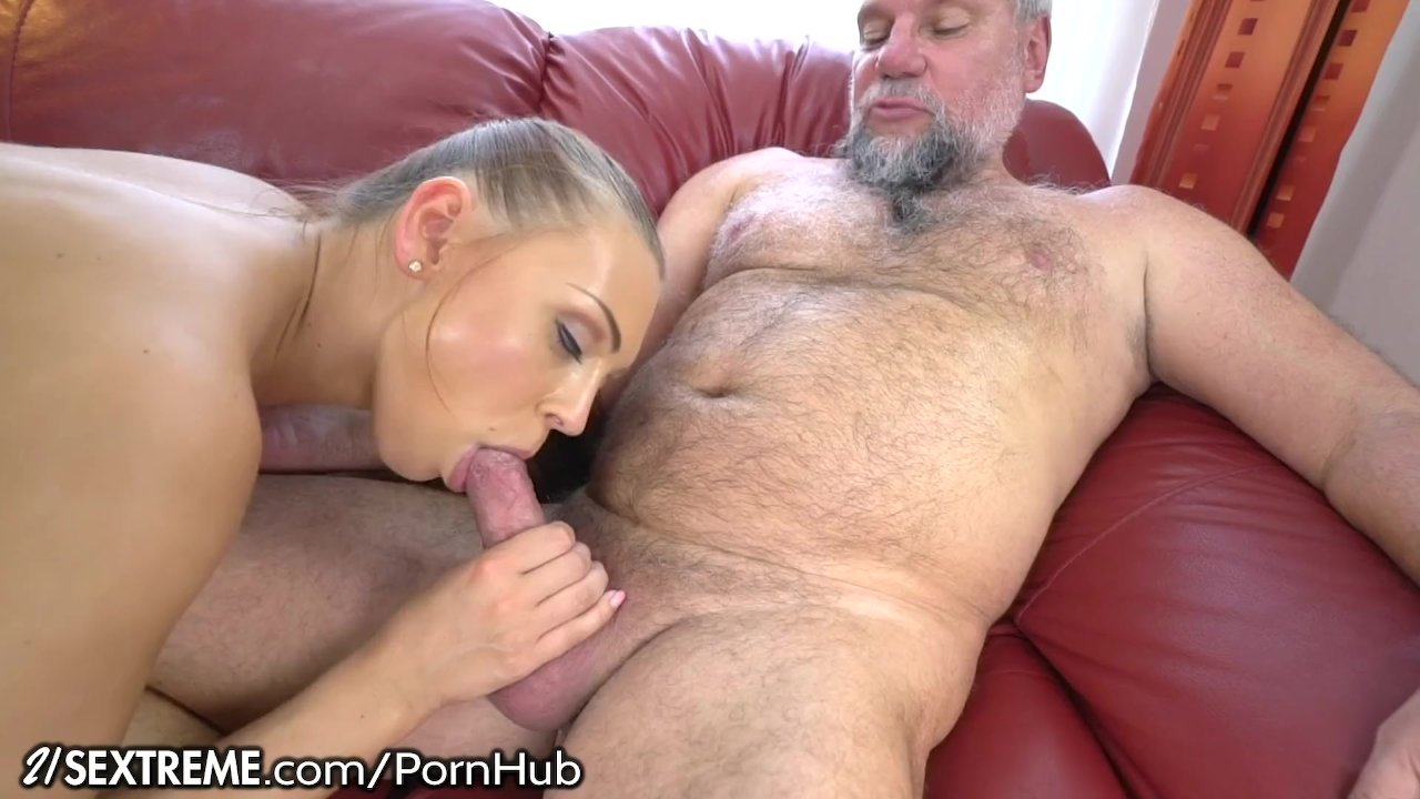 Naughty Old Guy Fucks Young Mouth