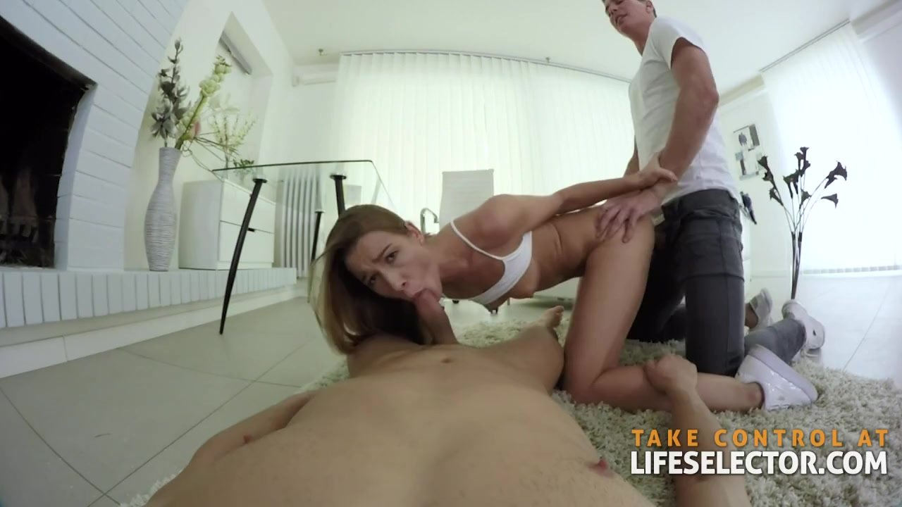 Alexis Crystal - Feeding on Two Cocks