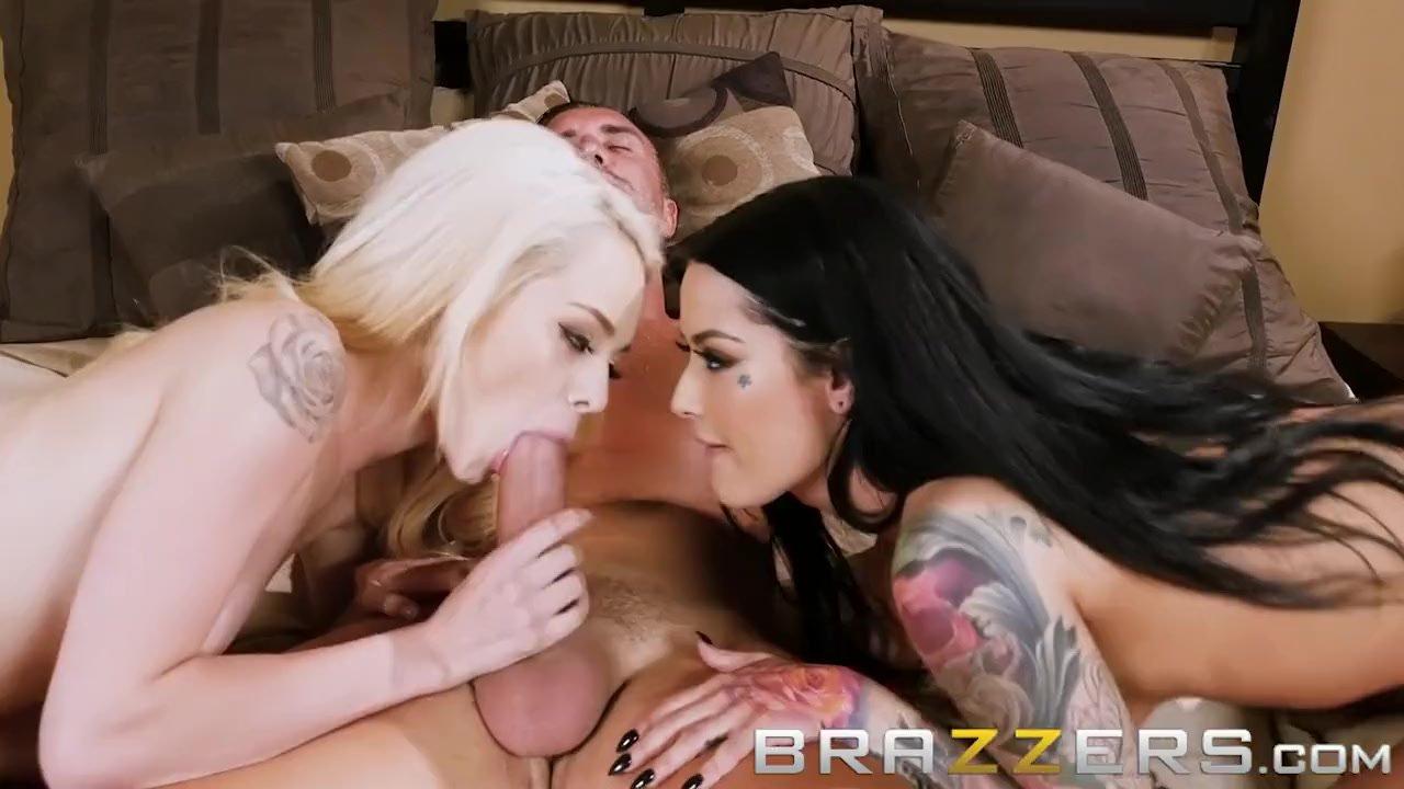 Elsa Jean & Katrina Jade Fool Around And Get Fucked - Brazzers