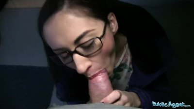Public Agent Young Russian in Glasses Fucking a Big Cock