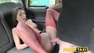 Fake Taxi Drivers big dick fucks latina tight wet pussy in taxi