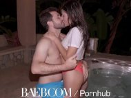 BAEB Pool fuck and facial with small breasted babe Adria Rae