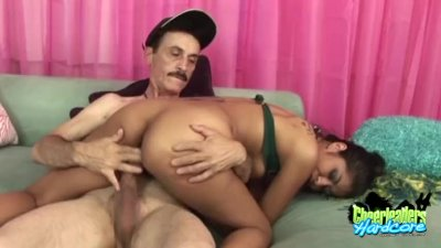 Cheerleader Ruby Rayes Fucked By An Older Gent