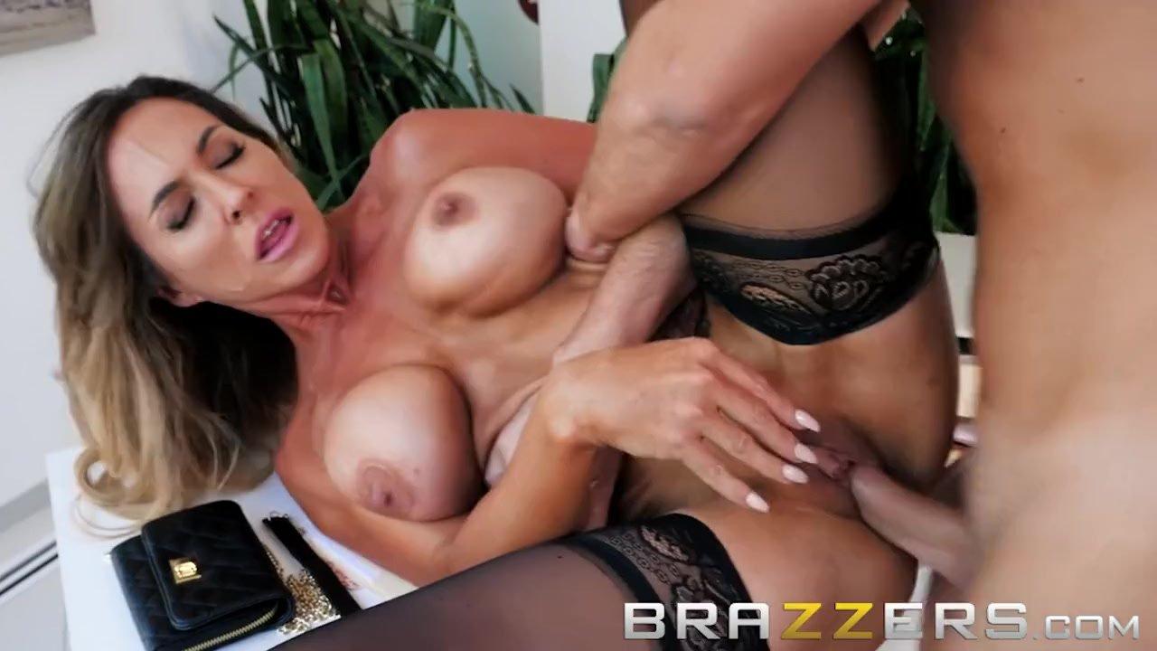 Slutty Wife Fucks Her Husbands Helper - Brazzers