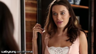 Lana Rhoades Tricks StepSister into Fucking her Girlfriend