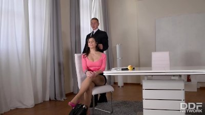 Busty Spanish Secretary Nekane gets her Big Butt Fucked at Work