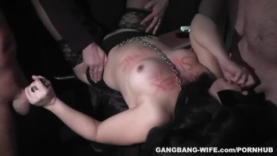 Degrading gangbangs with sex slave slutwife
