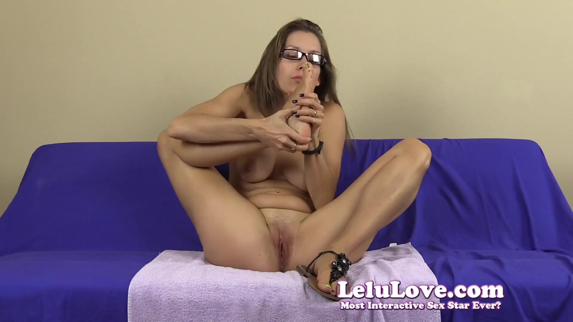 Naked girl spitting all over her feet and body JOI