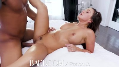 BAEB Interracial fuck and facial with busty babe Abigail Mac