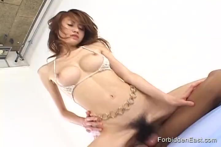 Hairy Asian Teen Gives Intense Blowjob and is Then Thoroughly Fucked By BF