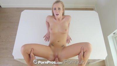 PornPros Big tit blonde Bailey Brookes fucks big dick with facial