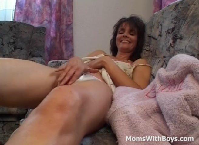 Brunette Mom Gives A Masturbation Private Show
