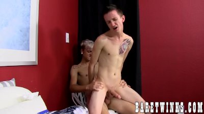 Jason Valencia spanks and firmly bareback fucks Skyler Evans