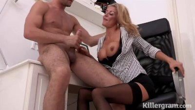 Killergram Hot Milf Tia Layne plays the office slut in need of cock