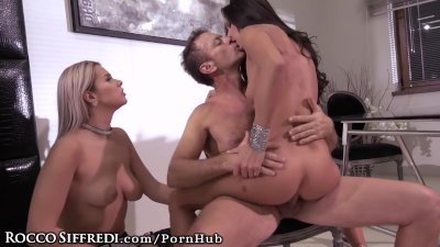 Alexa Rides Rocco Siffredi with Asshole as Nikky Masturbates