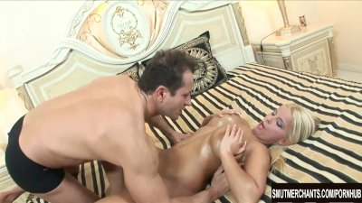 Lucy Love anal threesome