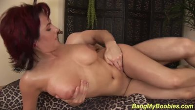 redhead Milf gets wild tit fucked