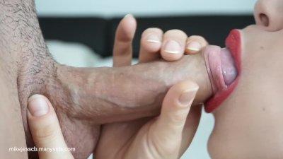 Extreme close up blowjob