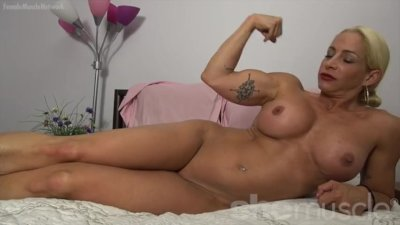 Naked Female Bodybuilder With Big Tits and Tattoos