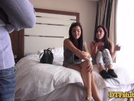 REAL Sisters Have Threesome With Big Cock In Hotel Room Tinder Hookup