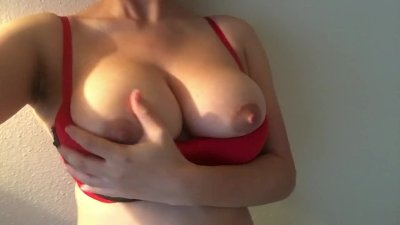 Naturally Engorged Breasts with Hard Nipples of Asian Girl