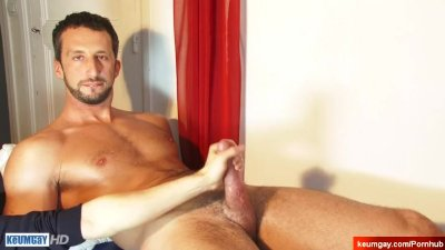 Andre Nice innocent gym trainer serviced his cock by us.