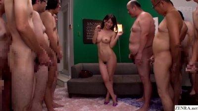 JAV milf Kaho Kasumi strip for group of men Subtitled