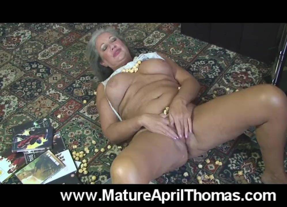 Mature April Thomas Fucks Herself