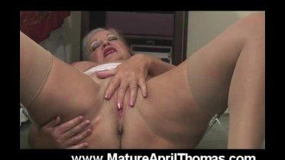Mature slutty Nurse Fucks Herself
