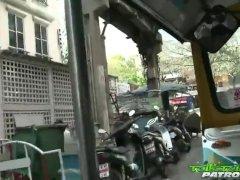 Tuk Tuk Patrol – Thai slut gets picked up and brains white cock dry